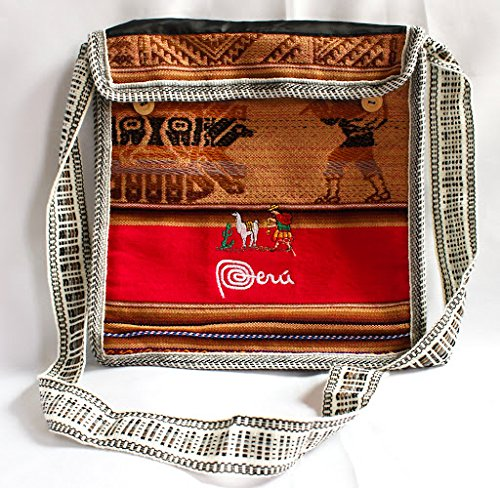 Red Peruvian Messenger/Bag Handmade-in-Peru