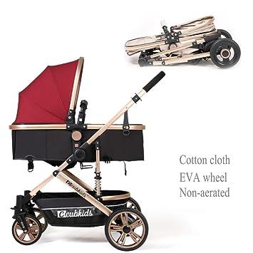 GSDZN - Sillas De Paseo Carro De Bebe Cochecito De Bebe Plegable Sistemas De Viaje, Apto para Niños De 0 A 36 Meses / 20KG,B-1: Amazon.es: Hogar