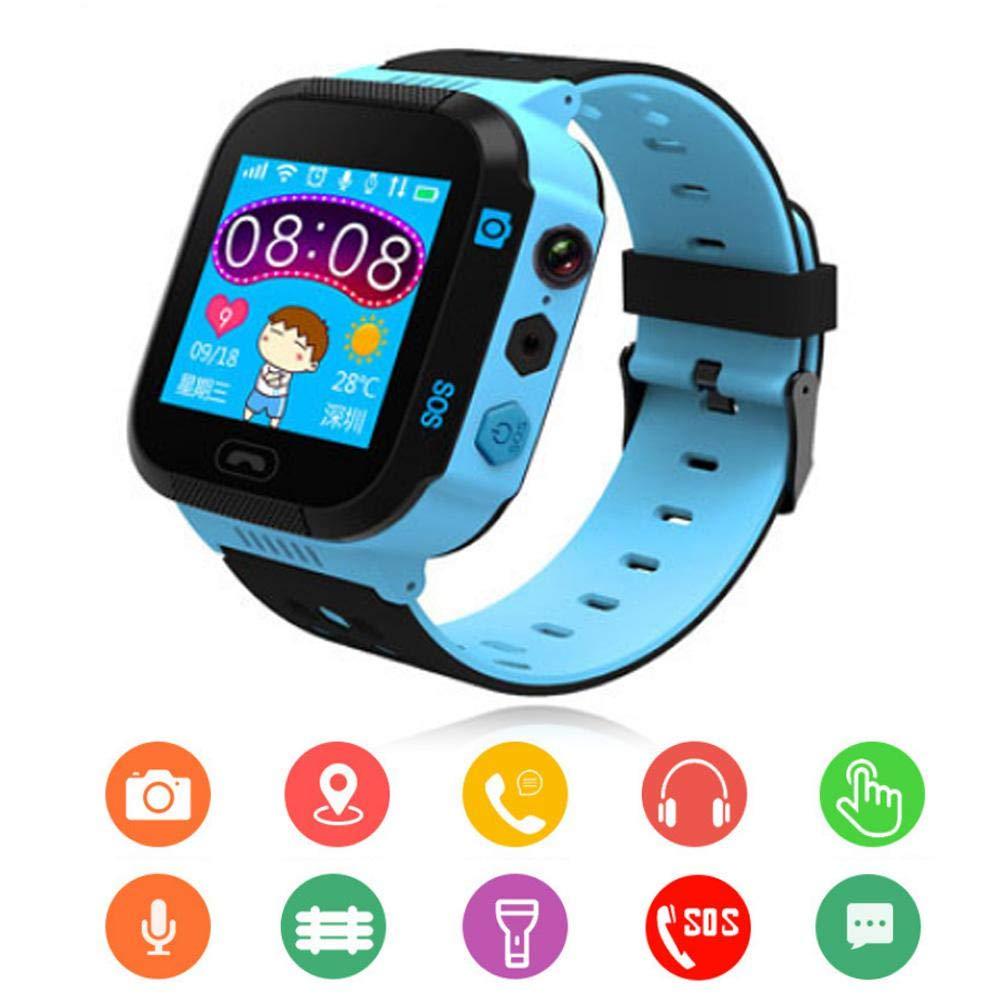 Baiwka Kids Tracker Smart Watch Waterproof, Touch Screen Mobile Smart Watches for Girls Boys,