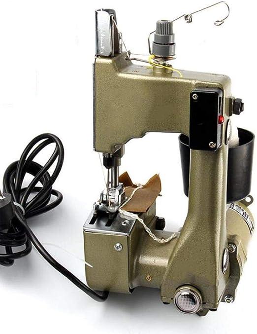 XGHW Máquina de Coser Bolsa de Tejido Máquina de Coser Bolsa Bolsa de Costura eléctrica Máquina de Sellado para Bolsa Tejida/Bolsa de arroz/Bolsa de Papel/Bolsa de plástico: Amazon.es: Hogar