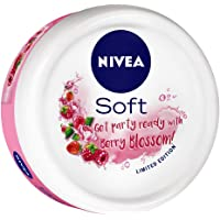 NIVEA Soft Light Moisturizer Berry Blossom With Vitamin E & Jojoba Oil, 100 ml