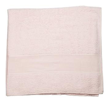 Toalla de rizo 100% algodón con tela aida Rosa 100 x 150 cm: Amazon.es: Hogar
