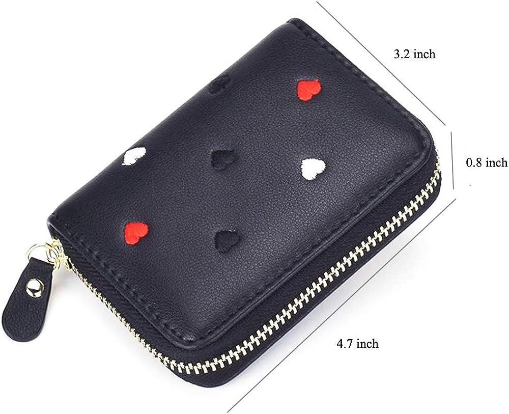 Dyzeryk Wallet Credit Card Wallet Ultra-thin Minimalist Soft Leather Mini Credit Card Holder for Women Men