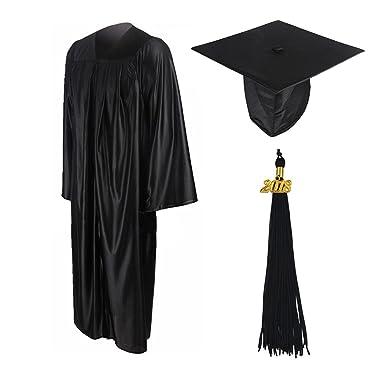Amazon.com: GraduationMall Shiny Graduation Gown Cap Tassel Set ...