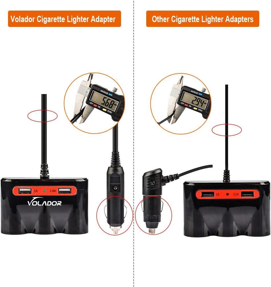 Amazon.com: volador 3-socket 120 W encendedor de coche, 12 V ...
