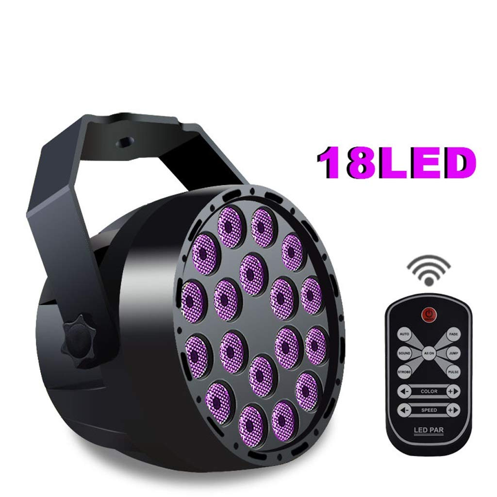 RXY-(^_^) Remote Control 18W Mini Purple LED Light Stage Lighting Halloween Atmosphere Lighting