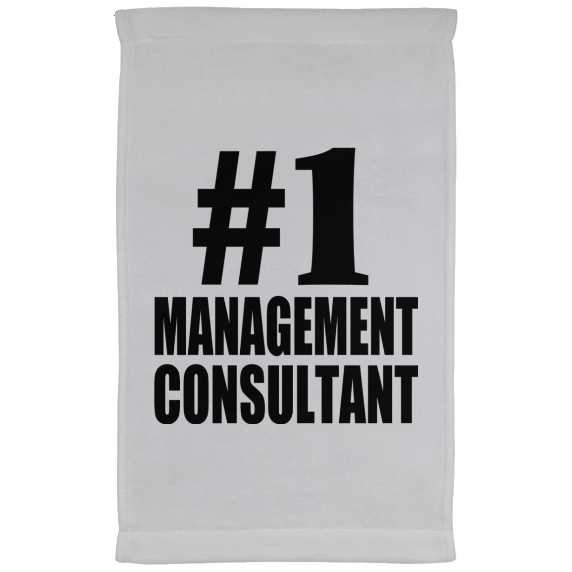 Designsify Number One #1 Management Consultant - Kitchen Towel, Microfiber Velour Towel, Best Gift for Birthday, Anniversary, Easter, Valentine's Mother's Father's Day
