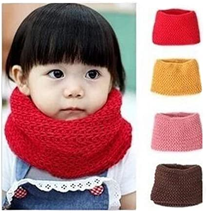 Unisex Baby Kids Boys Girls Warmer Winter Thick Knit Wool Soft Scarf Neck Long Scarf Shawl Black