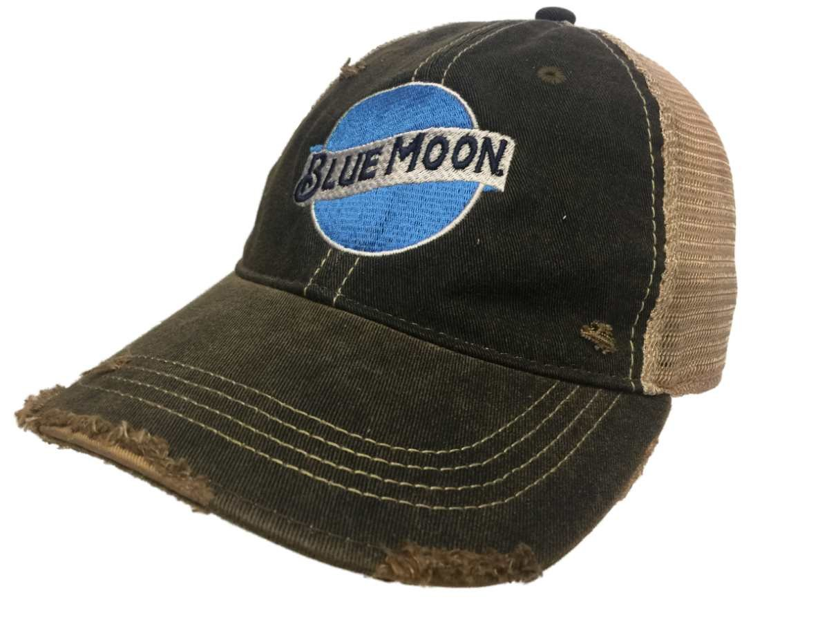 57d534c497c Amazon.com  Blue Moon Brewing Company Retro Brand Vintage Mesh Beer  Charcoal Adj Hat Cap  Sports   Outdoors
