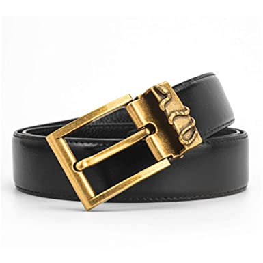 daaf26a8d8709 Men s leather belt double g snake head S-shaped buckle buckle layer leather  belt (