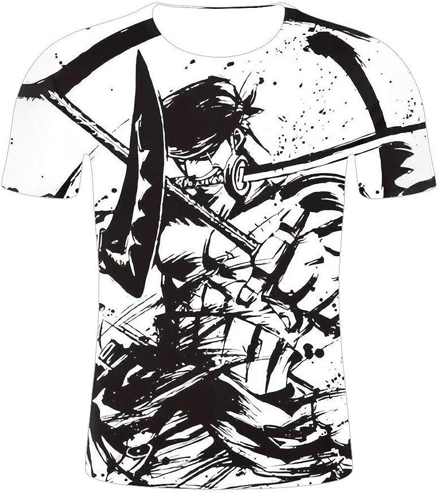 GOYING Camiseta Unisex de Manga Corta One Piece Roronoa Zoro Contenido: impresión 3D, Otaku, Juegos de rol, cómics, Dibujos Animados: Amazon.es: Ropa y accesorios