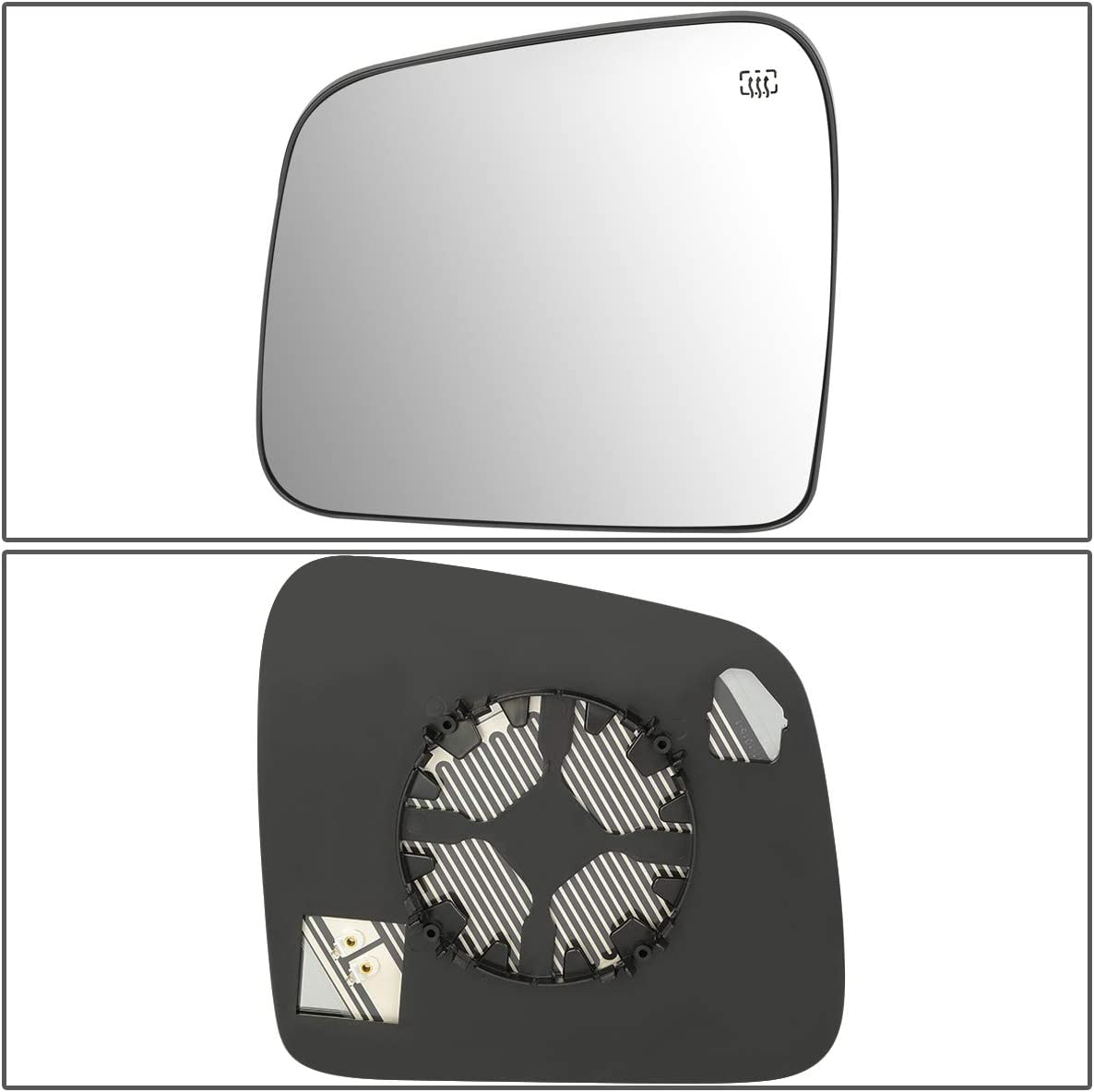 DNA Motoring OEM-MG-0117 68092051AB Factory Style Left Side Mirror Glass w//Heated