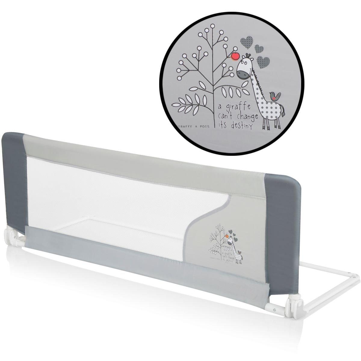 Bettschutzgitter Bettgitter GIRAFFE (120 x 40 cm) für Kinderbett Stimo24