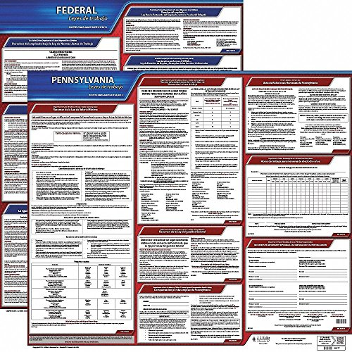 Labor Law Poster Kit, PA Federal and State Labor Law, Spanish ()