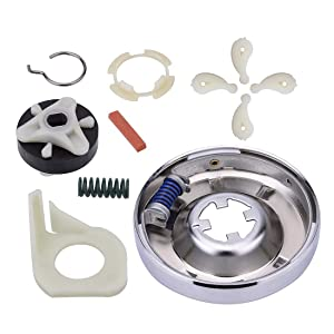Cykemo 285785 Washer Clutch Assembly Kit, 285753A Motor Coupling Kit, 4 pcs 80040 Washer Agitator Dog for Whirlpool Washer 285331, 3351342, 3946794, 3951311, AP3094537