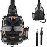 YVLEEN Fishing Tackle Backpack - Outdoor Large Fishing Tackle Storage Box Bag - Water-Resistant Fishing Backpack with…