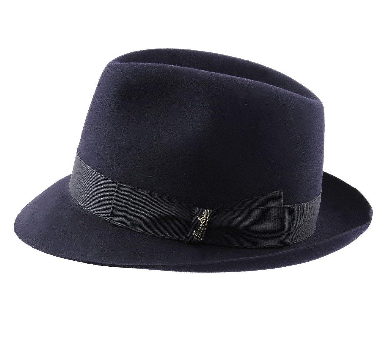 Borsalino Charlait Leather Trilby Hat
