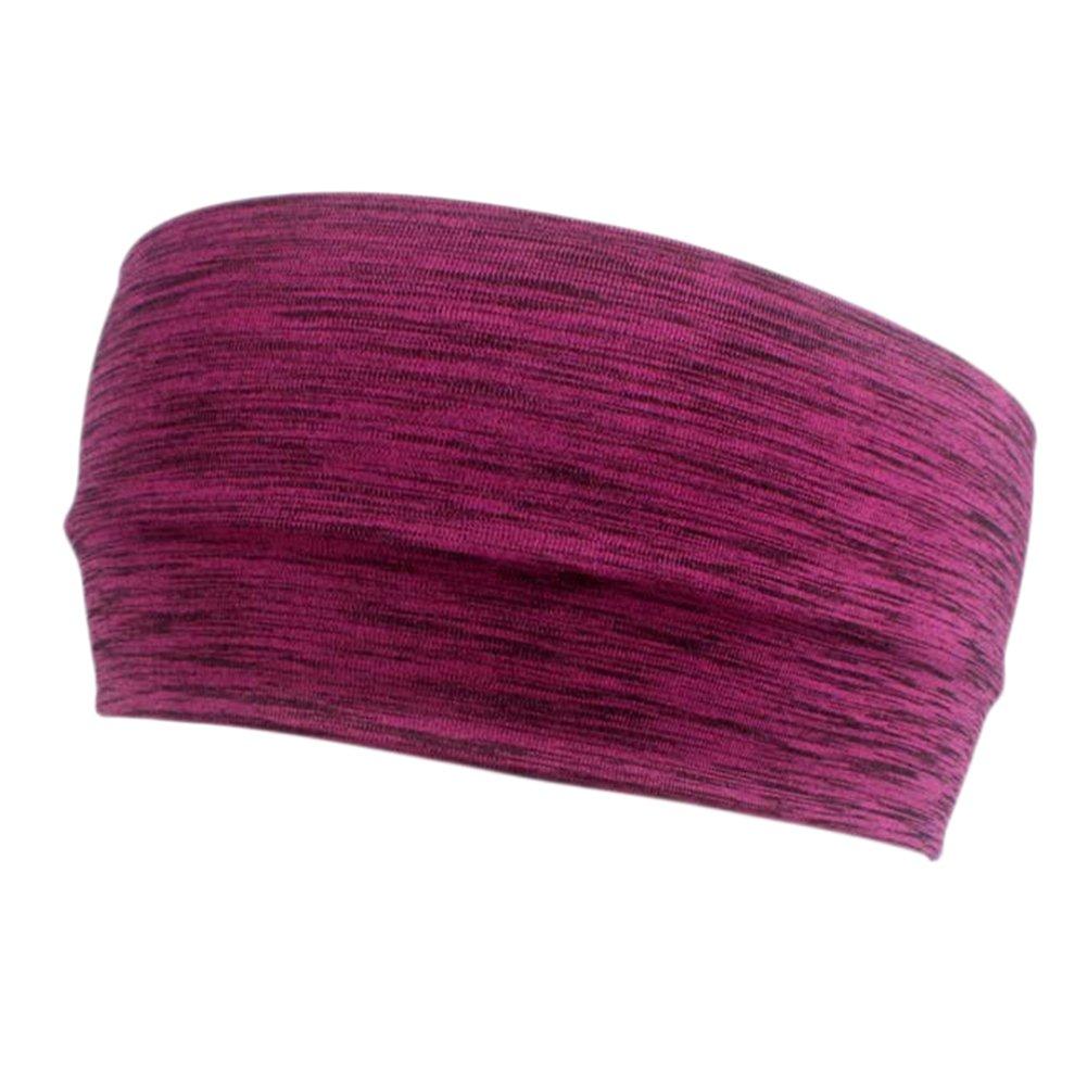 Lumanuby 1 Pcs Bandeau de sport léger pour Bandeaux extensibles pour les cheveux Headwear Idéal pour la course à pied Yoga chaud et entraînements athlétiques 23x9cm