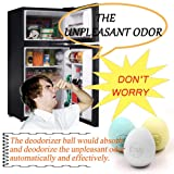 TOOYU Refrigerator Odor Deodorizer Ball,Fishy Musty Odor Moisture Remover Absorber Eliminator Neutralizer,Air Freshener Purifier,100% Natural & Chemical Free,Set of 3