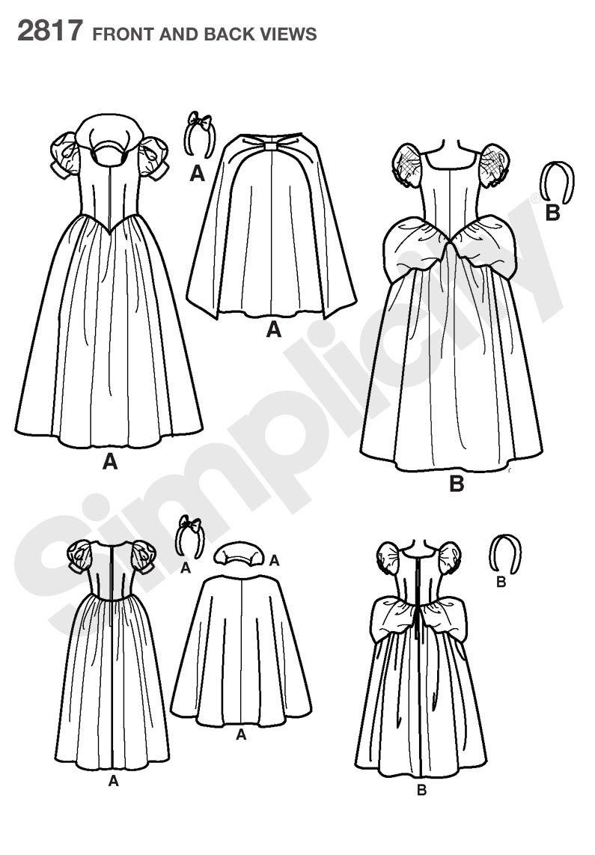 Simplicity 2817 - Patrones de costura para disfraces de niños ...