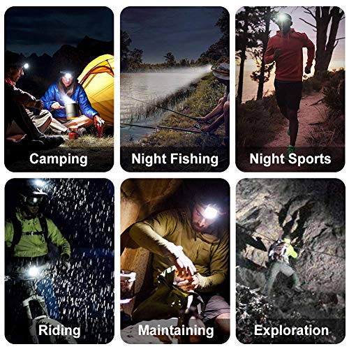 SYOSIN Head Torch 8 LED 18000 Lumen Headlamp USB Rechargeable Super Bright for