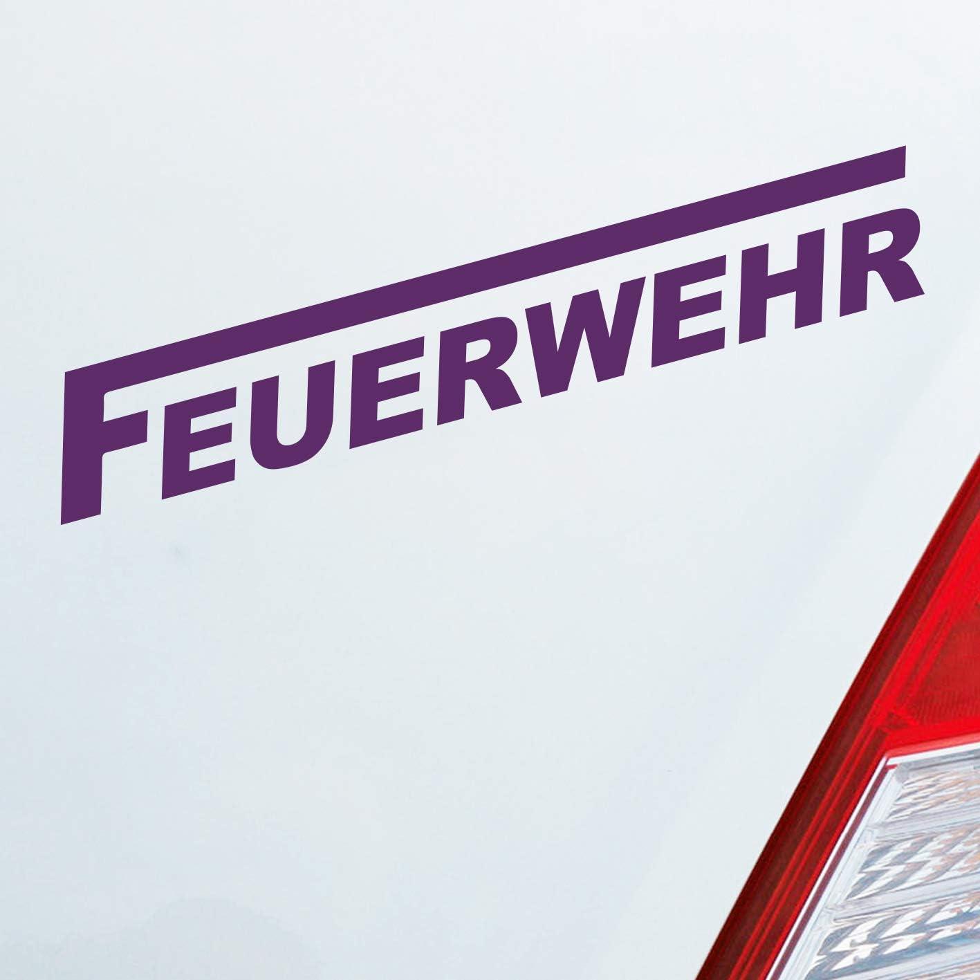 Auto Aufkleber in deiner Wunschfarbe Feuerwehr langes F Leben Retten L/öschen Bergen 19x3 cm Autoaufkleber Sticker