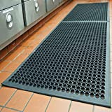 "Rubber Door Mats Anti-Fatigue Floor Mat for Kitchen New Bar Floor Mats Commercial Heavy Duty Bath Mat Black 36"" x 60"""