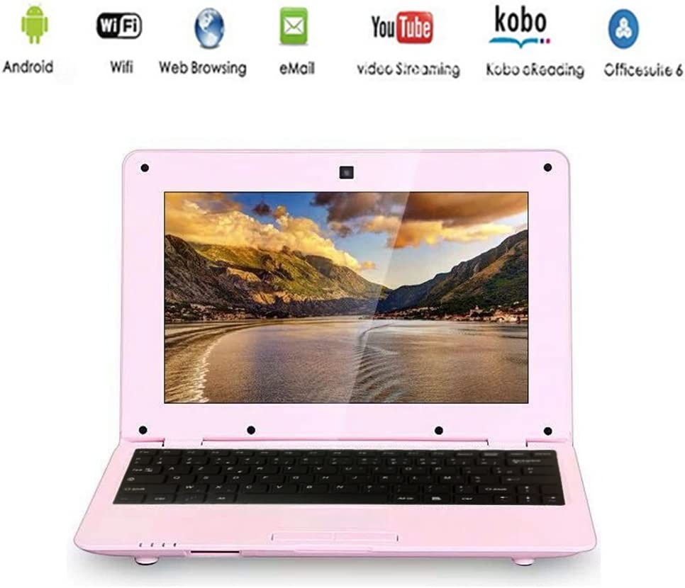 Netbook Laptop Android 4.4 HDMI écr.10 (WiFi-SD-MMC)-Pink