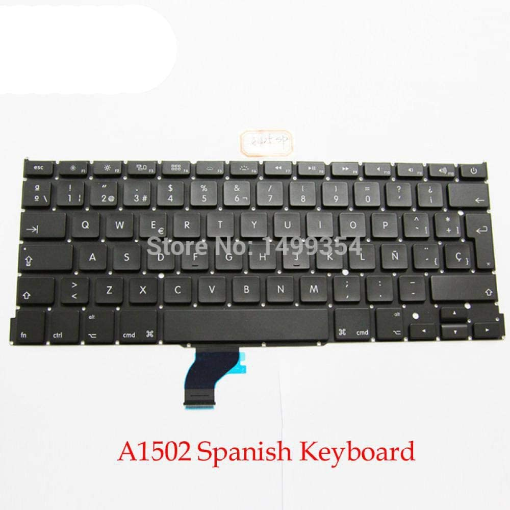 New for MacBook Pro Retina 13 A1502 Spanish//Spain Keyboard SP Keyboard Replacement ME864 ME865 ME866