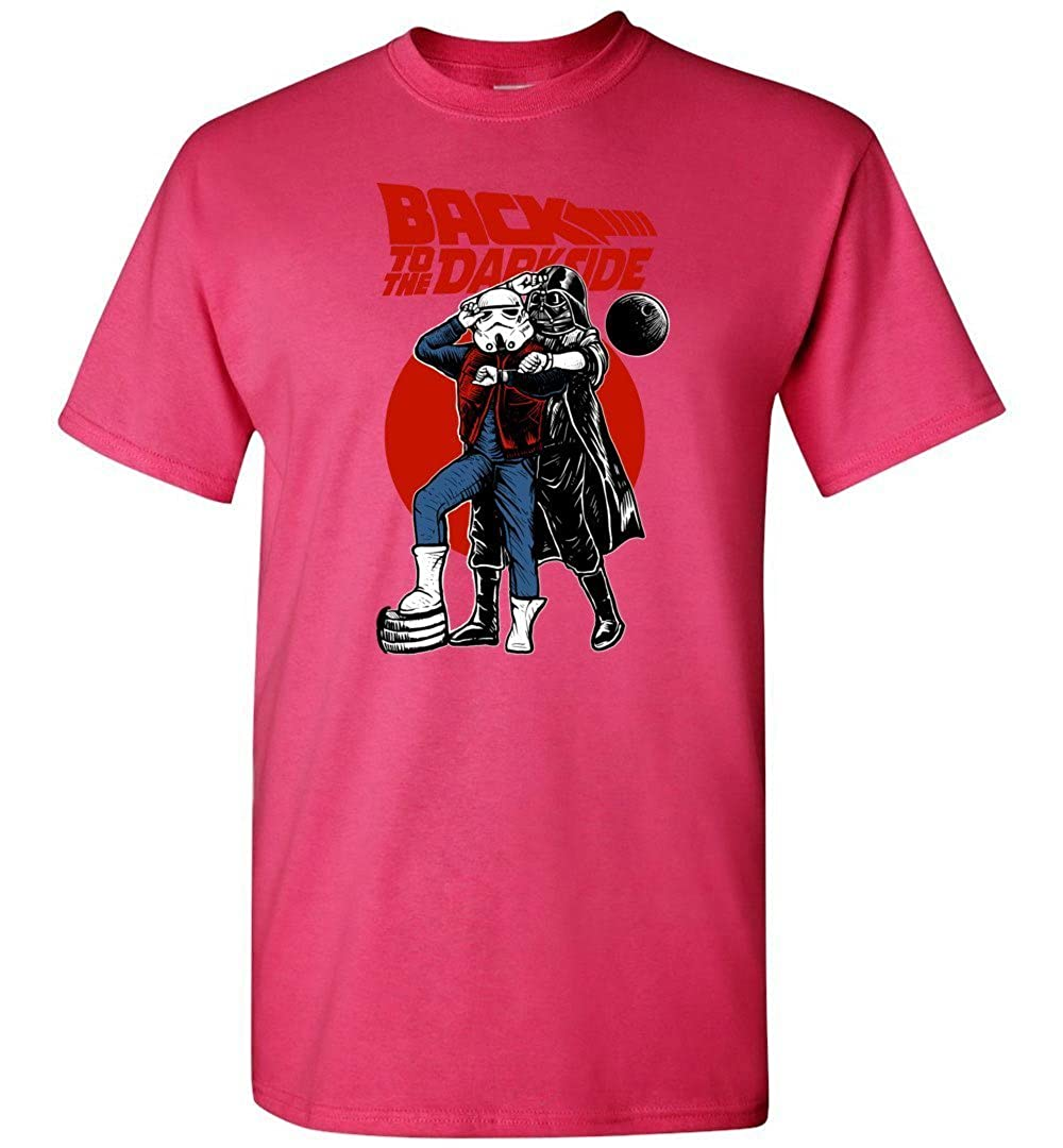 Back to The Darkside Star Wars Back to The Future Mashup Unisex T-Shirt Adult Pop Culture Graphic Tee Nerdy Geeky Apparel