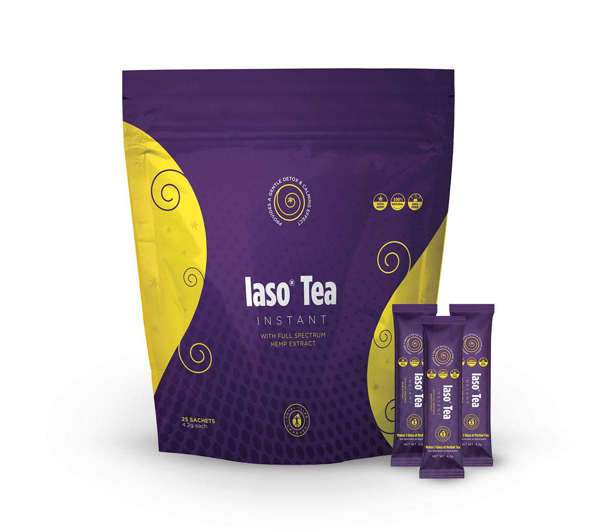 TLC Total Life Changes IASO Instant Tea Detox With Hemp Extract (25 Packets)