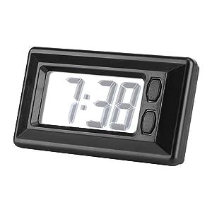 Fdit LCD Digital Table Car Dashboard Desk Electronic Clock Date Time Calendar Display