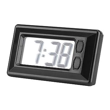 Fdit - Reloj Digital con Pantalla LCD para salpicadero de Coche: Amazon.es: Hogar