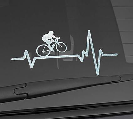 Tandem Road Cyclist die-cut car window sticker