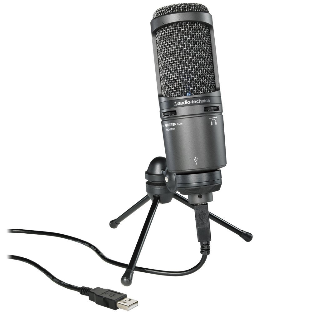 Audio-Technica AT2020USB+ Cardioid Condenser USB Microphone (Certified Refurbished) AT2020USBPLUS-CR
