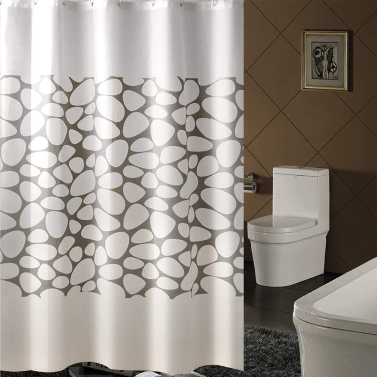Der Creative Wild Snowflake Opaque Sunshade Padded EVA Bathroom Drilled Shower Curtain Waterproof Mildew Bathroom Accessories (Size : 150cm180cm)