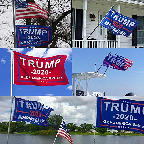 Rtudan Trump Flags,American Flags,Keep America Great Flag,Double Stitched Vivid Color Anti Fading,USA Flag Trump 2020 Flags 3x5 Ft Outdoor Banner, 4 Patterns