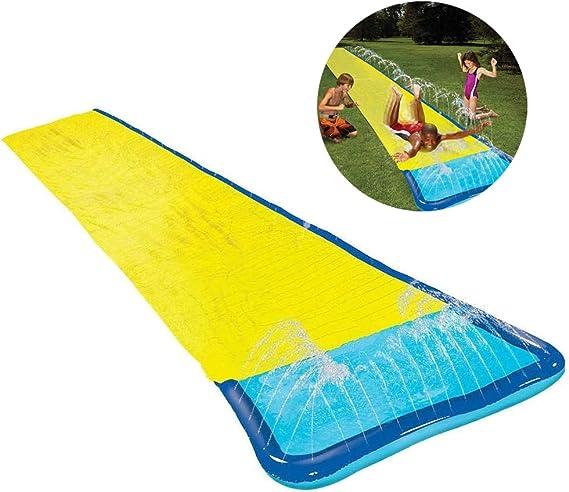 HDJSA Tobogán de Agua Pista Deslizante Hinchable Deslizador acuático para jardín con rociador para Niños Juegos De Piscina De Patio, 540 X70cm: Amazon.es: Deportes y aire libre