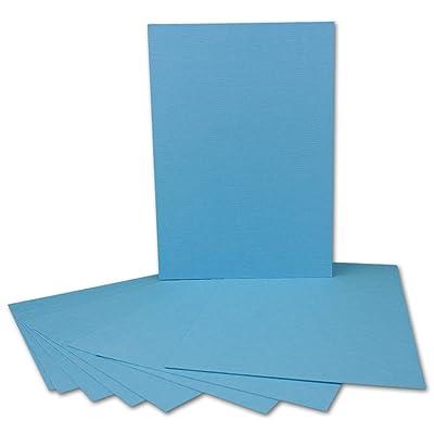 Lot de 20–Lin Carton–DIN A5–210x 148mm   en bleu clair–240g/m²–Cartes de bricolage Idéal pour Invitations   qualit&ea