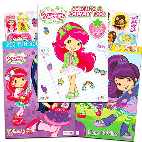 Strawberry Shortcake Coloring Book (Strawberry Shortcake Coloring Book Super Set -- 3 Coloring Books, Over 30 Stickers (Party Supplies)