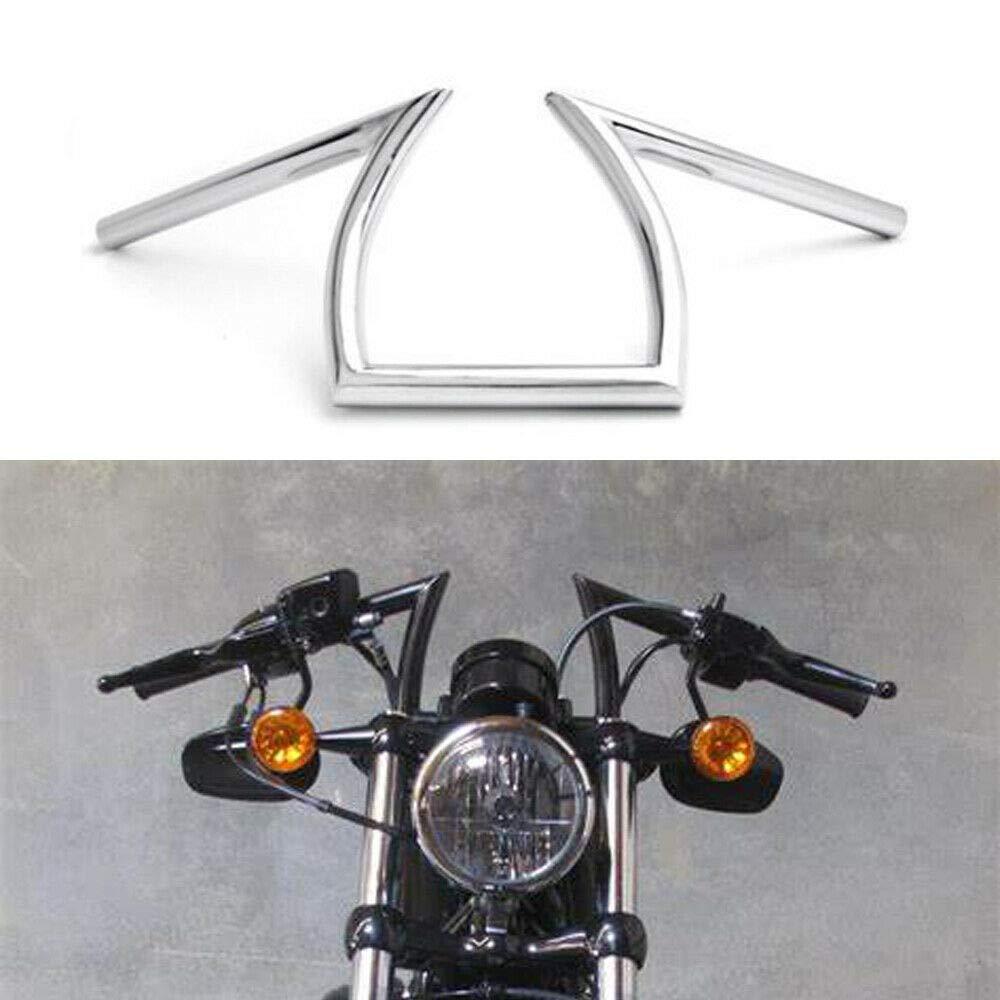 """Cruiser Z-Bar Handle Bars 1/"""" Chrome For Harley XL Sportster 1200 883 Custom"""