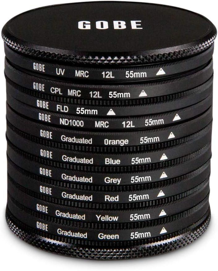 Graduated Orange FLD Green Lens Filter Kit Circular Polarizing Grey 1Peak Blue ND1000 Yellow Red Gobe 43mm UV