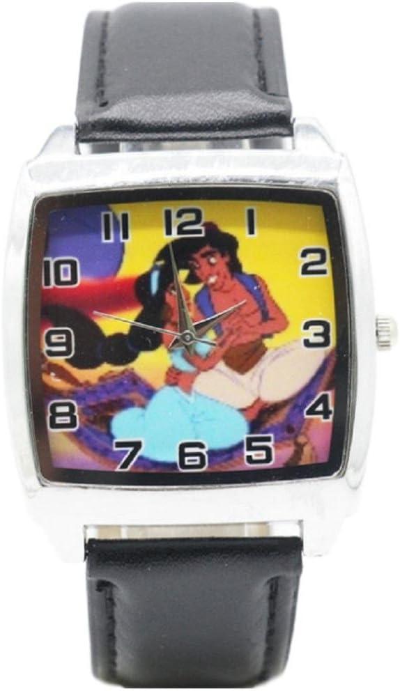 New Horizons Productionアラジンとジャスミン本革バンド腕時計