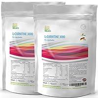 L-Carnitin-3000 1000 Tabletten Vegan | Fatbuner - Bulk Pack XL | Slimming Diät + Definition | hergestellt in Deutschland