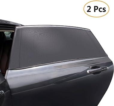 Haitral Auto Seite Fenster Sonne Schatten 2 Pack Baby Sonnenschutz Waschbar Für Auto Suv Seite Fenster Auto