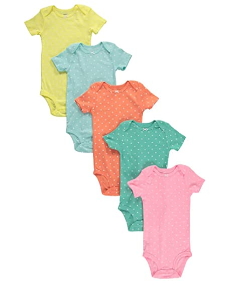 e32910792 Amazon.com  Carters Baby Girls Sweet Dots 5-Pack Bodysuits - aqua ...