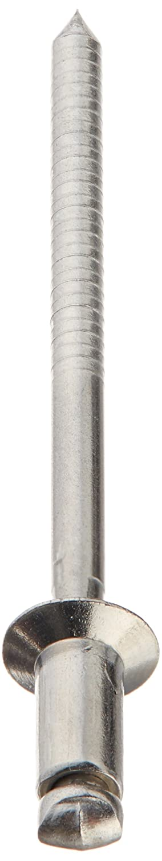 Aluminum Blind Rivet #30 Drill Size 0.376-0.5 Grip Range 1//8 OD 0.650 Length Meets IFI Grade 11 Pack of 100