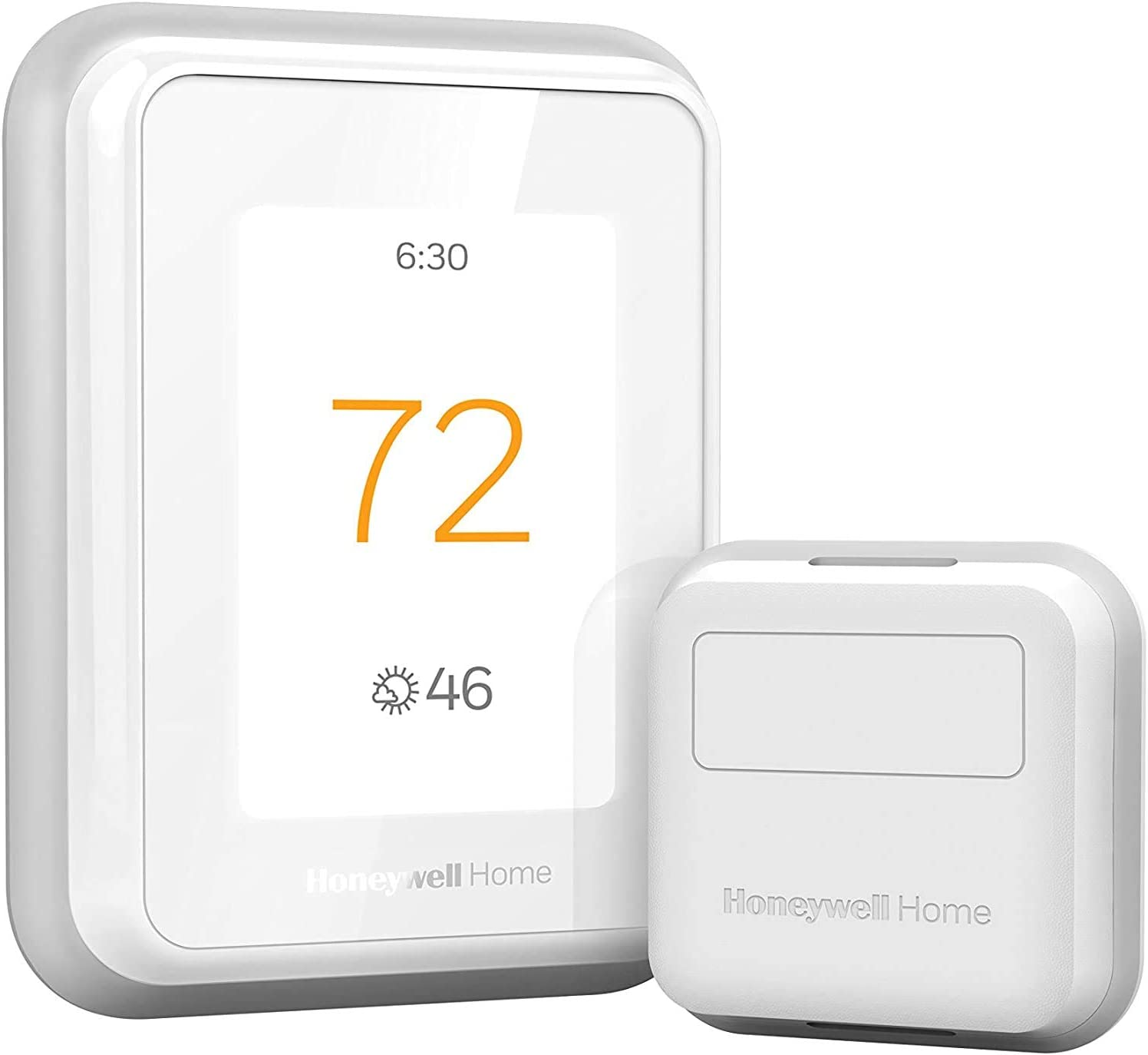 Honeywell Home RCHT9610WFSW2003 RCHT9610WFSW T9 WiFi Thermostat with 1 Smart Room Sensor, Touchscreen Display, Alexa and Google Assist (Renewed)