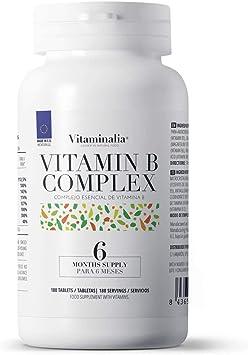 Vitamina B Complex de Vitaminalia | Complejo Vitamínico B con vitamina b1 b6 b12 | Todas las vitaminas B veganas | Sin OGM, Sin Gluten, Sin Lactosa | ...