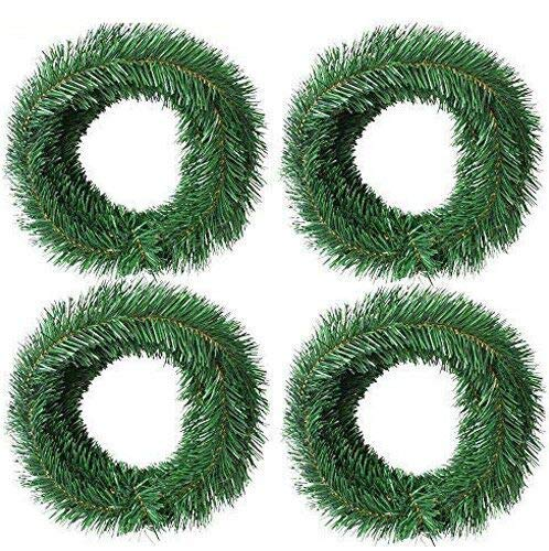 Woooow 72 Foot Artificial Christmas Garland Christmas Decorations Non-Lit Soft Green Garland Outdoor Indoor Use- Brightens Christmas Holiday Wedding Party Festival Decor